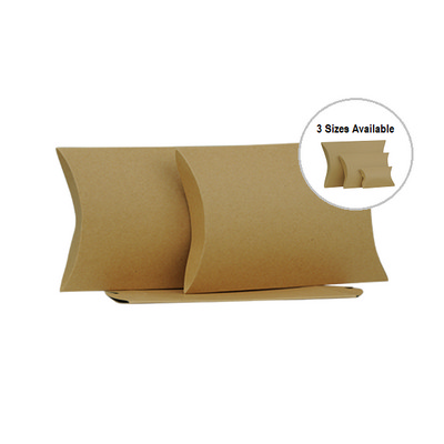 Picture of Medium Brown Kraft Pillow Box Printed