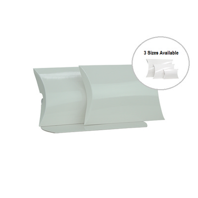 Picture of Medium White Gloss Pillow Box Printed