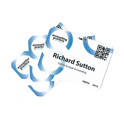Picture of Pocketless Laminated Name Tags - Medium
