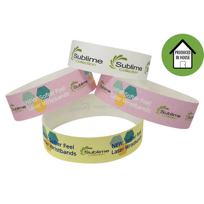 Picture of Full Colour 19mm Laser Printed Wristband
