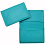 Premium Aqua Leather Card Holder