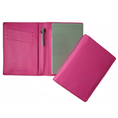 Picture of Premium Pink Leather Pocket Notebook