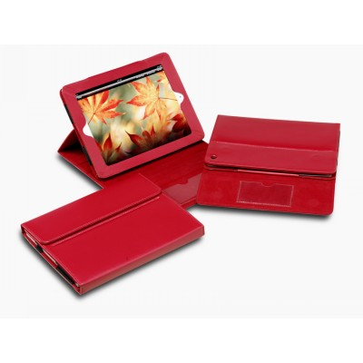 Picture of Premium Red Leather iPad Cover & Display