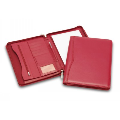 Picture of Superior Red Leather Zip Compendium