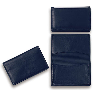 Picture of Premium Dark Blue Leather Card Holder (E