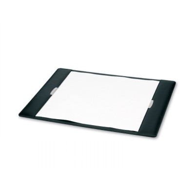 Picture of Executive Leather Desk Pad with Silver T