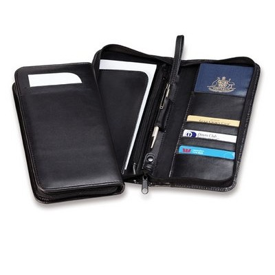 Picture of Deluxe Zip Travel Wallet with Wrist Strap