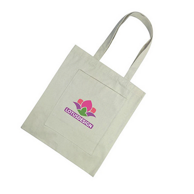 Picture of Cotton Tote Bag with Zippered Pouch