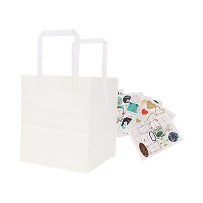Picture of Flat Handle Kraft Paper Bag(175x110x240mm)