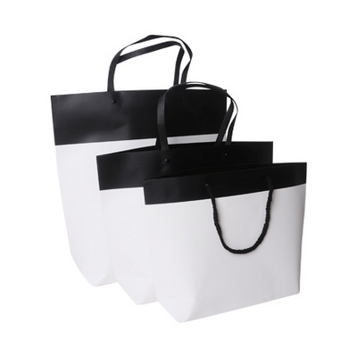 Picture of Small Black&White Boutique Kraft Paper Bag(330 x 250 x 80mm)
