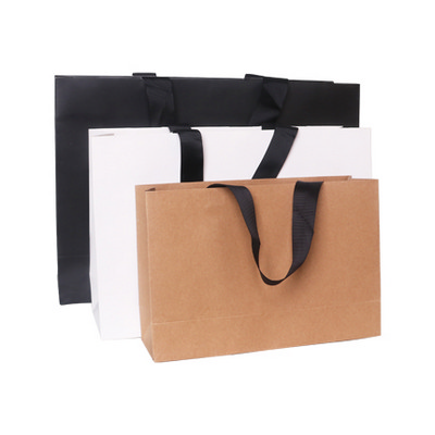 Picture of Large Kraft Paper Bag With Thread Flat Handle(380 x 270 x 120mm)