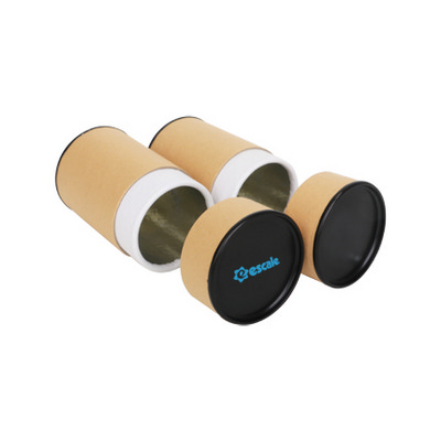 Picture of Medium Kraft Paper Cylinders With Black Lid (65 x 90mm)