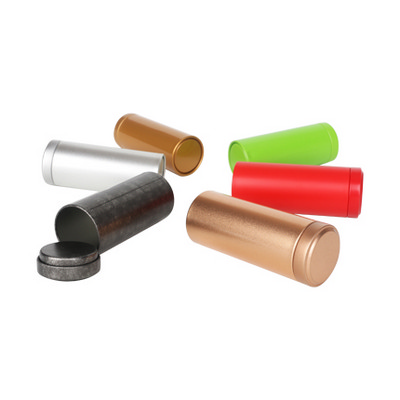 Picture of Small Metal Cylinder Tin Canisters (45 x 65mm)