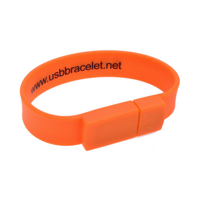Picture of Rectangular Silicone Wristband Flash Drive
