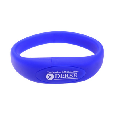 Picture of Oval Silicone Wristband Flash Drive