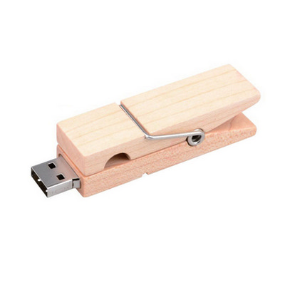 Picture of Wooden Clip Flash Drive