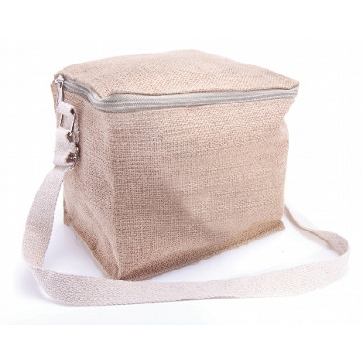 Picture of JUTB10 6 Can Jute Cooler Bag