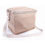 JUTB10 6 Can Jute Cooler Bag