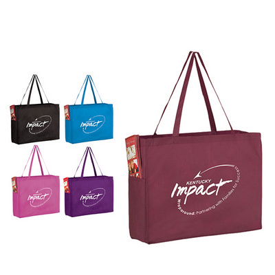 Picture of Non-Woven Over-the-Shoulder Tote Bag Wit