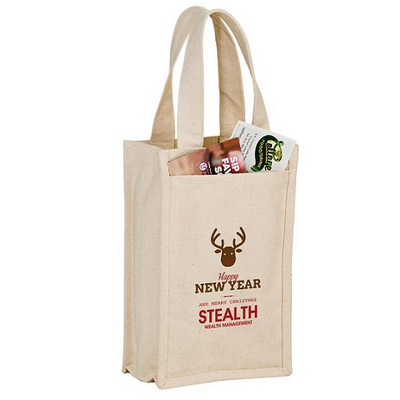 Picture of Heavyweight Cotton 2 Bottle Wine Tote Bag