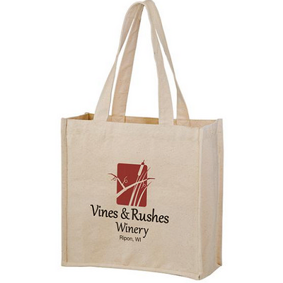 Picture of Heavyweight Cotton Tote Bag with 2 Bottl