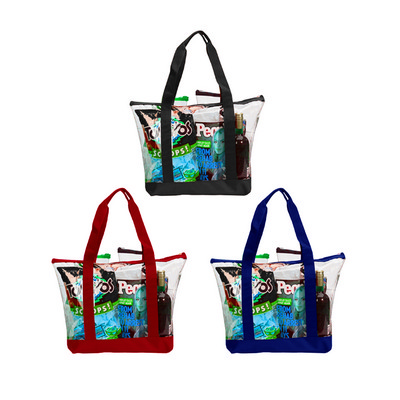 Picture of TOTE BAG A597 Clear Zipper Tote
