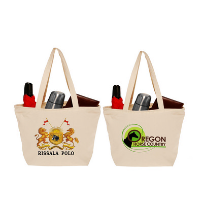 Picture of OCBBP1010 Cotton Canvas Totes With Zippe
