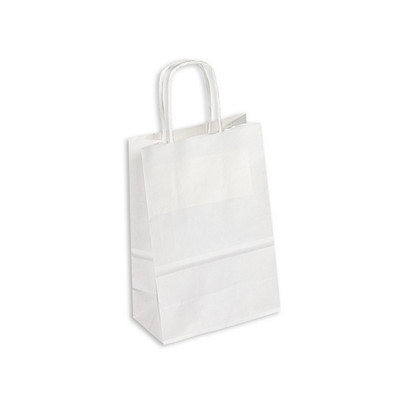 Picture of PAPB01KWS Kraft Paper Bag White Small In