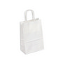 PAPB01KWS Kraft Paper Bag White Small In