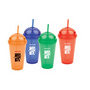 PLAD01 Plastic Cups With Domed Cap