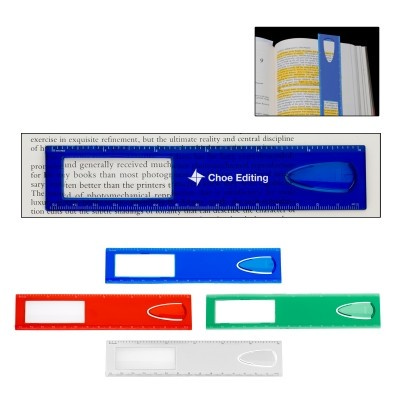 Picture of RUS008 15cm Magnifier Ruler With Bookmark