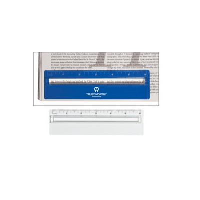 Picture of RUS012 Plastic 15cm Ruler With Magnifyin