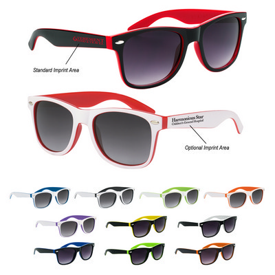 Picture of SUNG04 Two-Tone Malibu Sunglasses