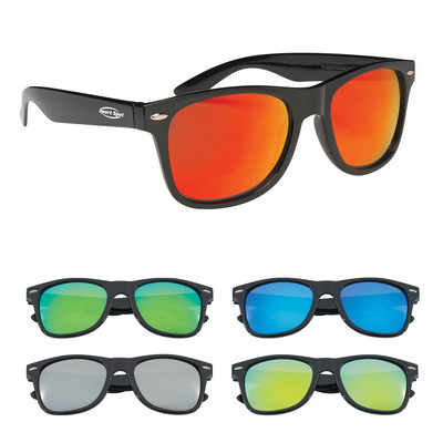 Picture of SUNG17 Colored Mirrored Malibu Sunglasses
