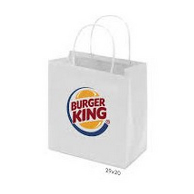 Picture of Kraft Paper Bag White Small Includes Twi