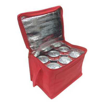 Picture of Knowsley Polypropylene Cool Bag In Red.