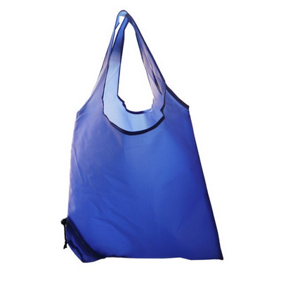 Picture of Folding Polyester Shopper Bag In Blue.
