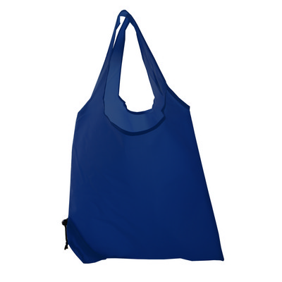 Picture of Folding Polyester Shopper Bag In Navy.
