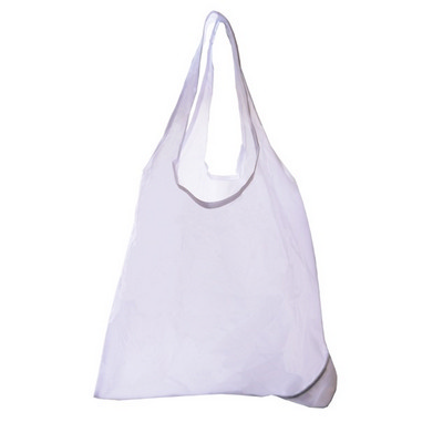 Picture of Folding Polyester Shopper Bag In White.