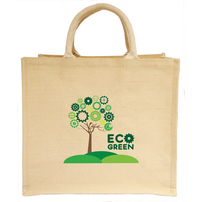 Picture of Large Natural Jute And Cotton Shopper To