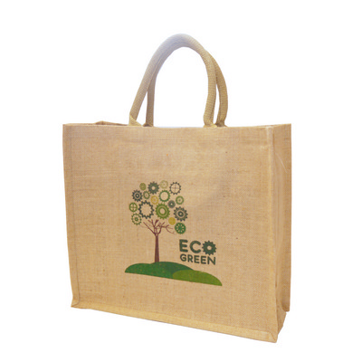 Picture of Large Natural Tatton Jute Shopper Tote B