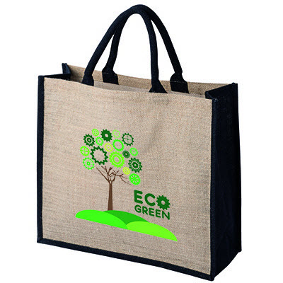 Picture of Tatton Natural Jute Shopper Tote Bag For