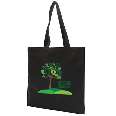 Picture of Paxton 8Oz Black Canvas Shopper Tote Bag