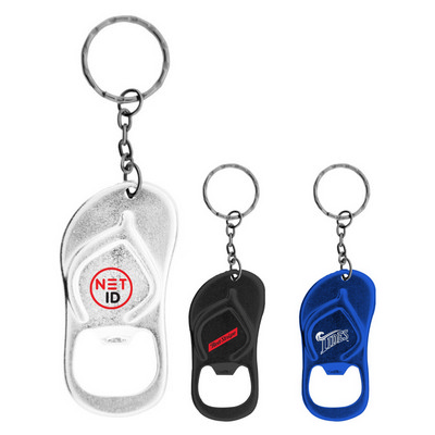 Picture of Sandal Shaped Bottle Opener Keychain