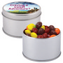 Assorted Fruit Skittles in Silver Round