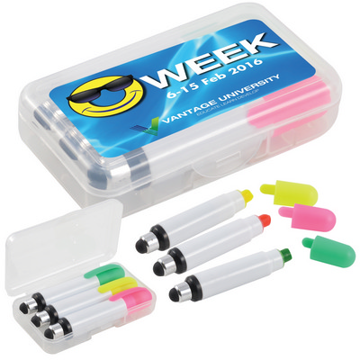 Picture of Wax Highlight Markers with Stylus in Case