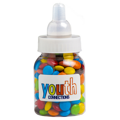 Picture of Baby Bottle Filled with Mini M&Ms 45G