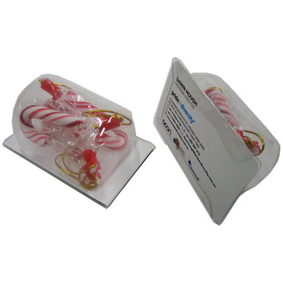 Picture of Biz Card Treats with Candy Canes X4