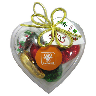 Picture of Acrylic Heart Filled with Christmas Choc