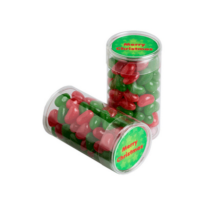 Picture of Pet Tube Filled With Christmas Jelly Bea